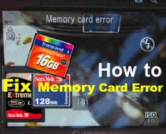 Fix Memory Card Error