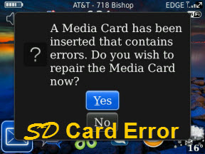 SD Card Error