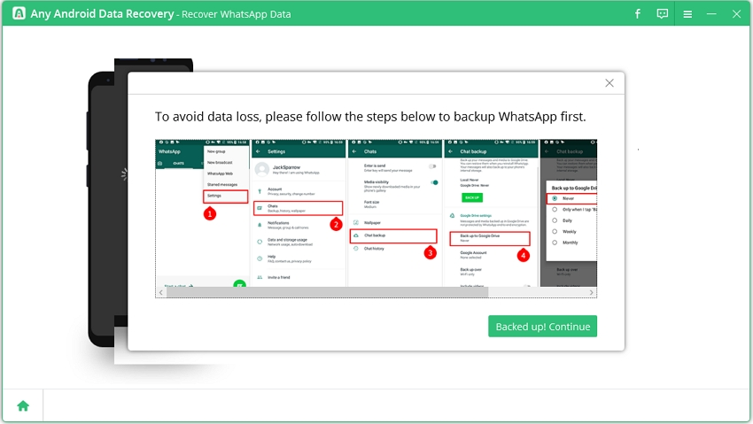backup whatsapp on android