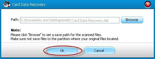 restore lost card data