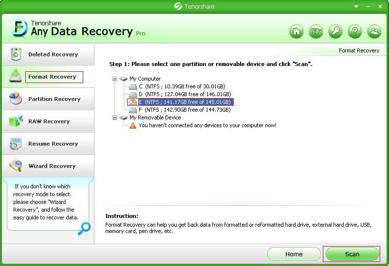 recover formatted partition