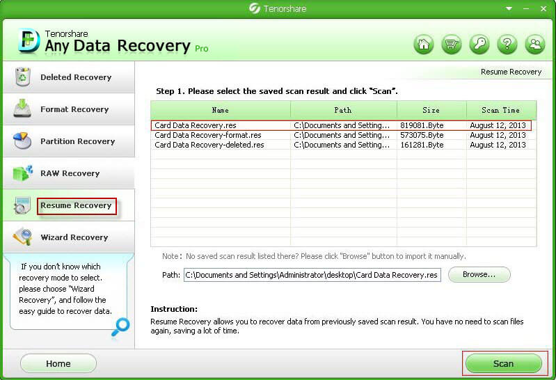 data recovery professional guide how to resume and recover