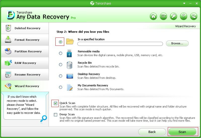 recover lost data by emptying the recycle bin