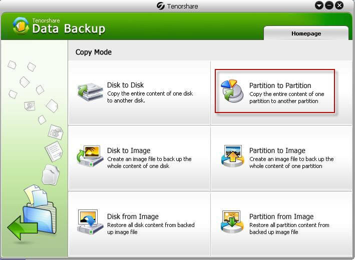 Data Backup: Partition to Partition