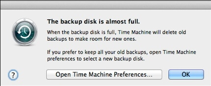 backup disk is lack of space