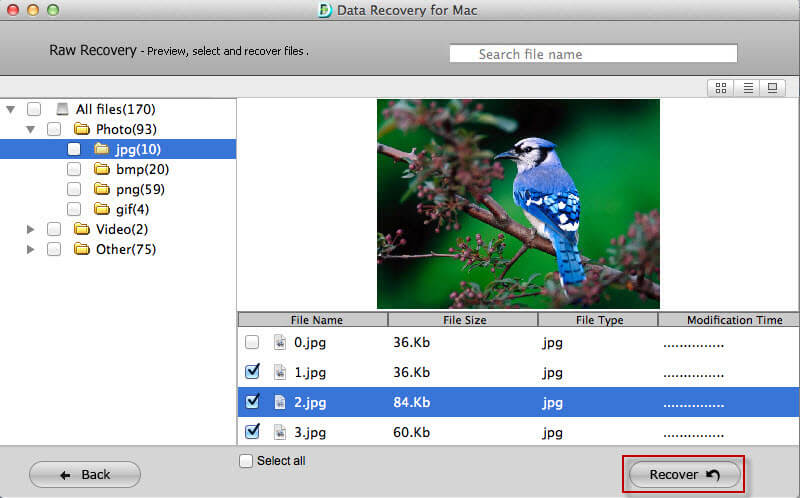 retrieve data on mac