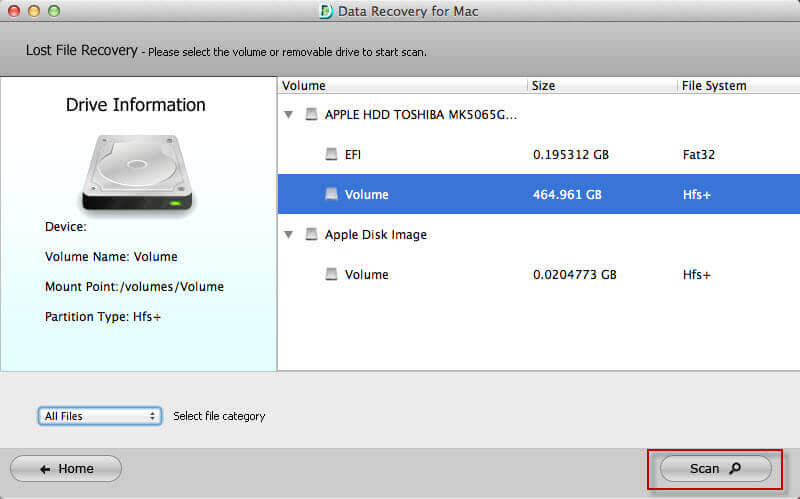 restore data from unmountable volumes on mac