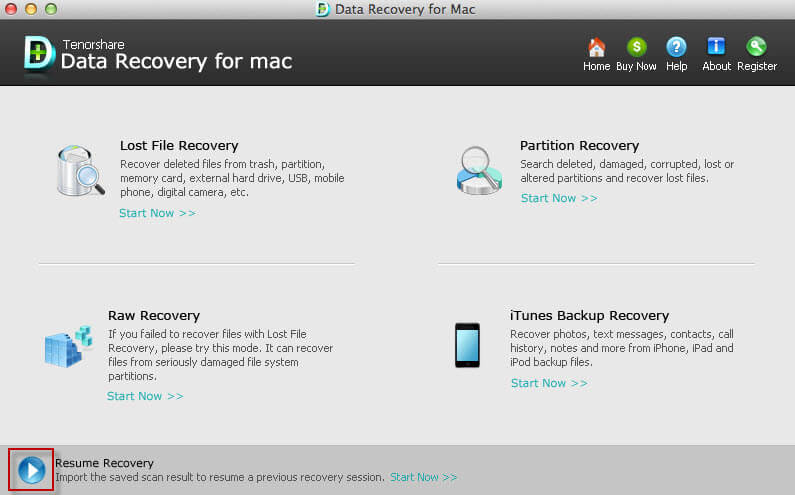 how to recover lost data from all devices with resume recovery mode