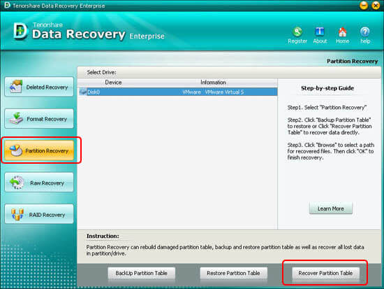 Recover Partition Table