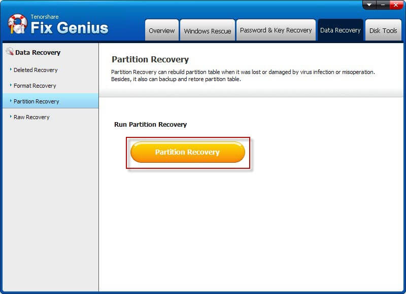 Run Partition Recovery