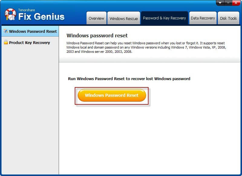 Recover lost Windows Password