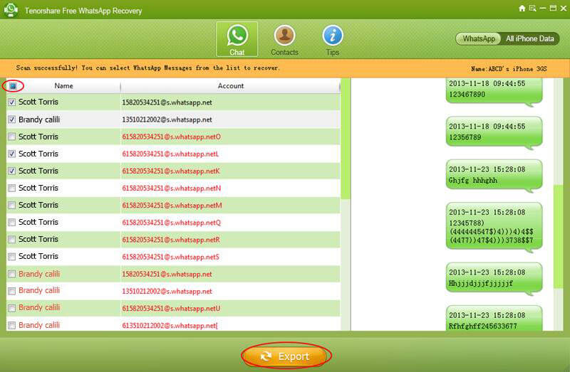 retrieve whatsapp messages free