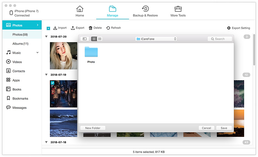 export photos to mac