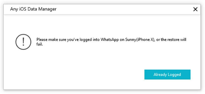 logged whatsapp iphone
