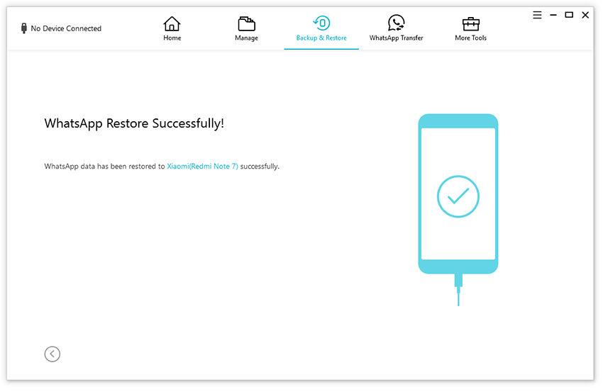 restore successfully