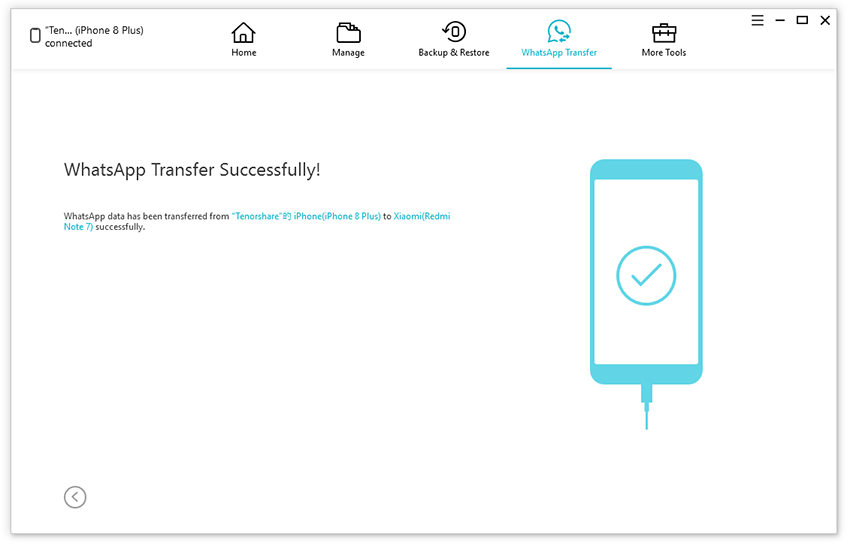 transfer completed android