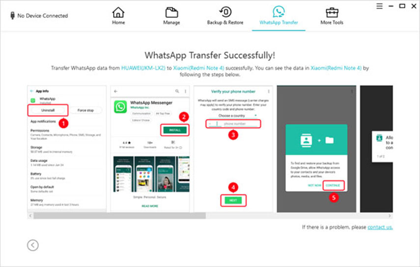 transfer completed on android