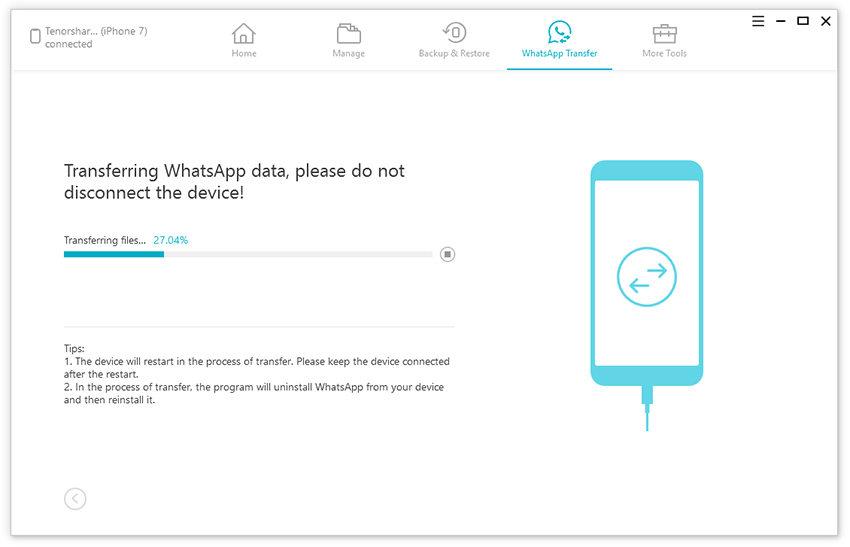 transferring whatsapp android