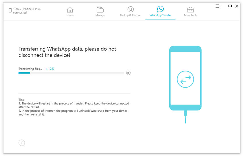 transferring data iphone