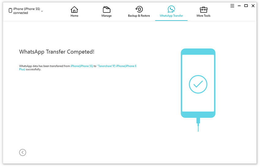 whatsapp transfer completed
