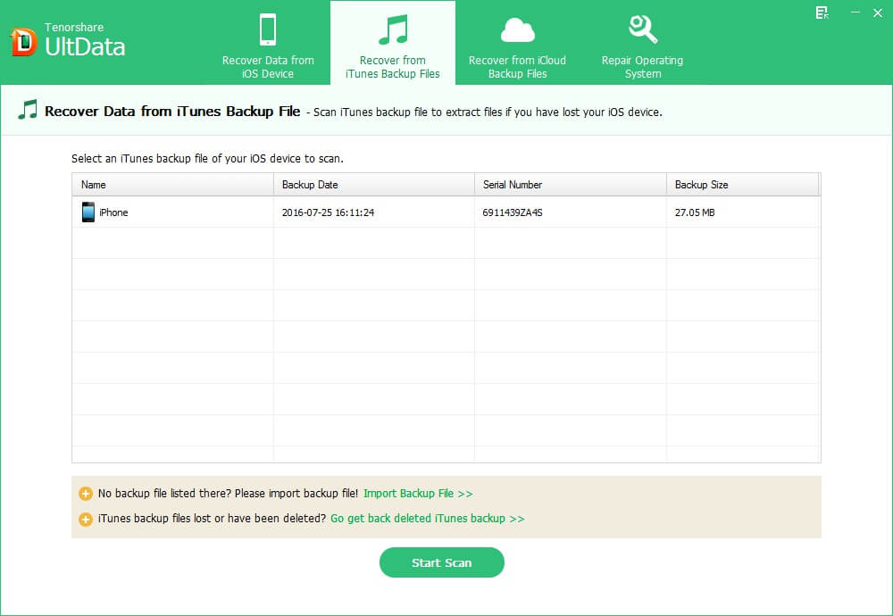 retrieve lost file files from itunes backup