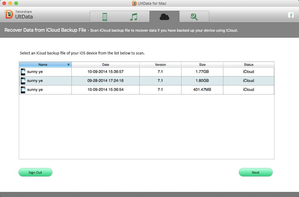 recover ipad data from icloud