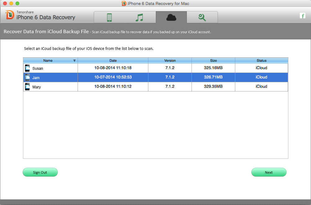 recover iphone 6 data from icloud on mac