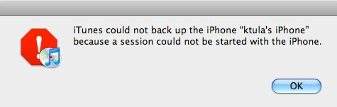itunes can't backup iphone 6