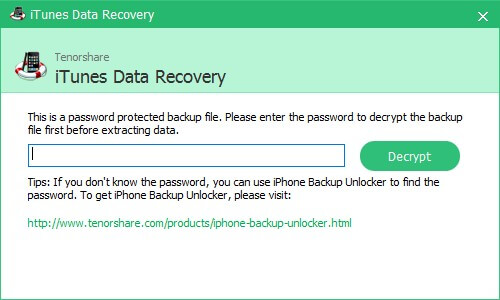 recover data from encrypted itunes backup