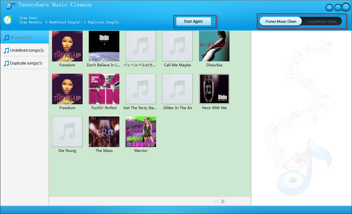 clean up itunes 11