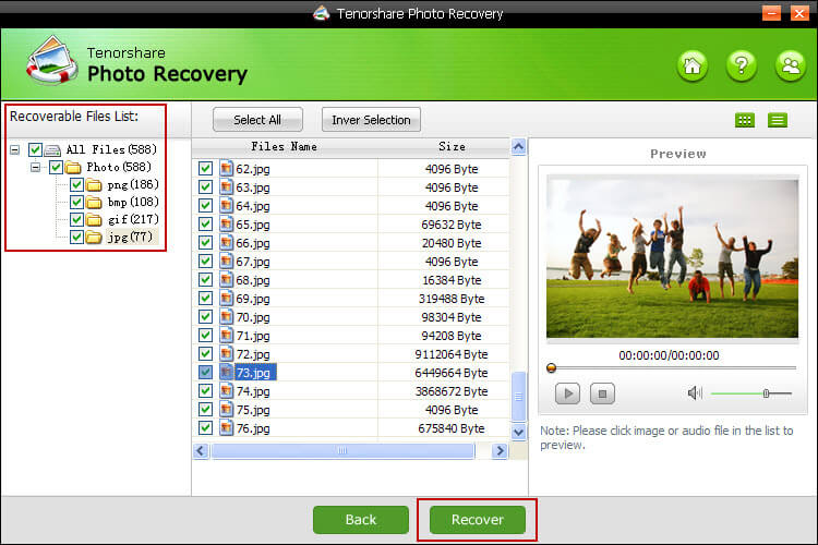 restore deleted photos from memory card
