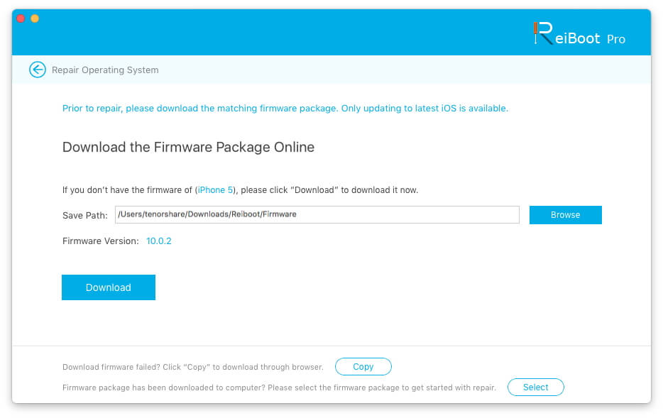 download ios firmware package