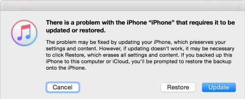 restore bricked iphone with itunes