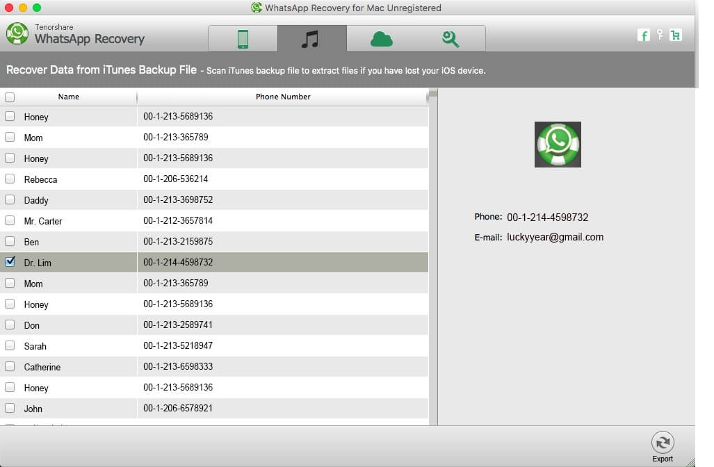 iphone 6 whatsapp recovery mac
