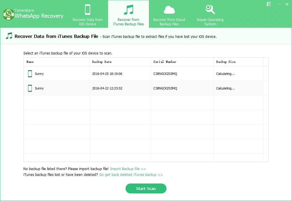 extract wahtsapp messages from itunes backup