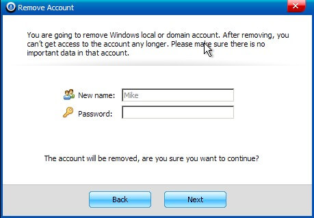 windows password remove