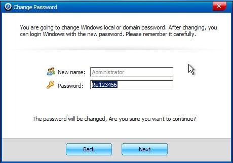 windows password reset