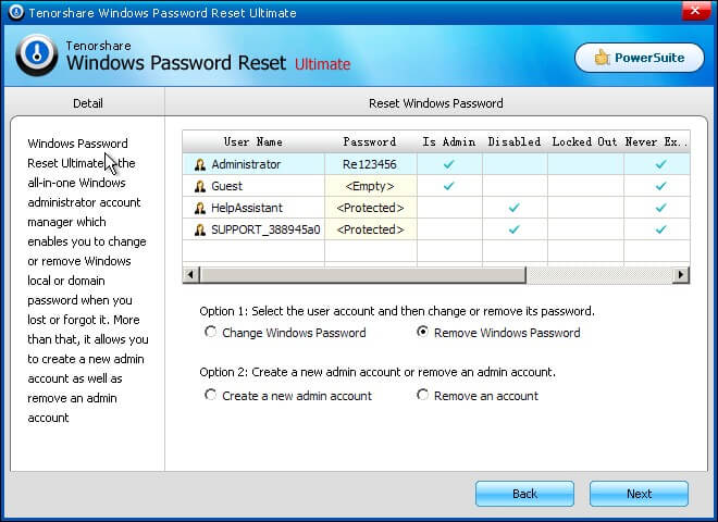 reset windows domain password