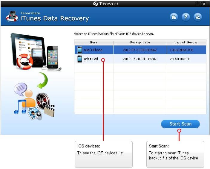 Data Recovery for iTunes - Free download and software ...