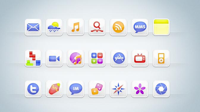 free cool icon themes for iphone