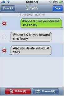 how to delete individual iMessages