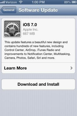 how to install ios 7