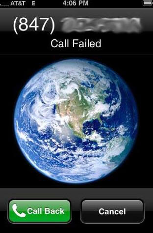 iphone 5 call failed att
