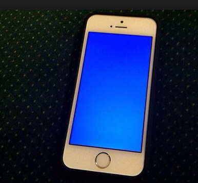 iphone blue screen of death