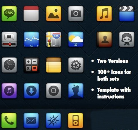 best iphone free theme with most icons
