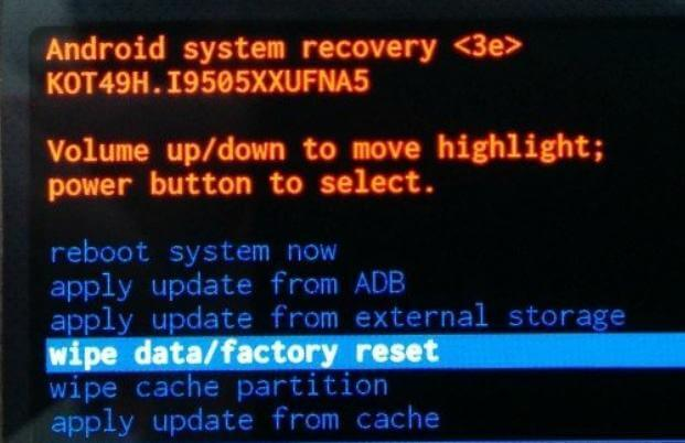 factory reset a samsung phone to fix bsod