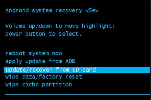 android stuck in system recovery