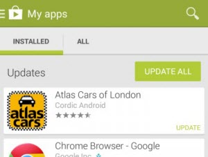 update android apps
