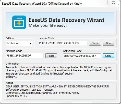 Working easeus data recovery license code and keygen 2018.