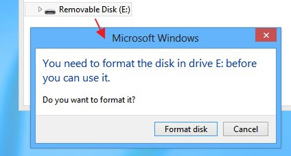 usb drive is not formatted